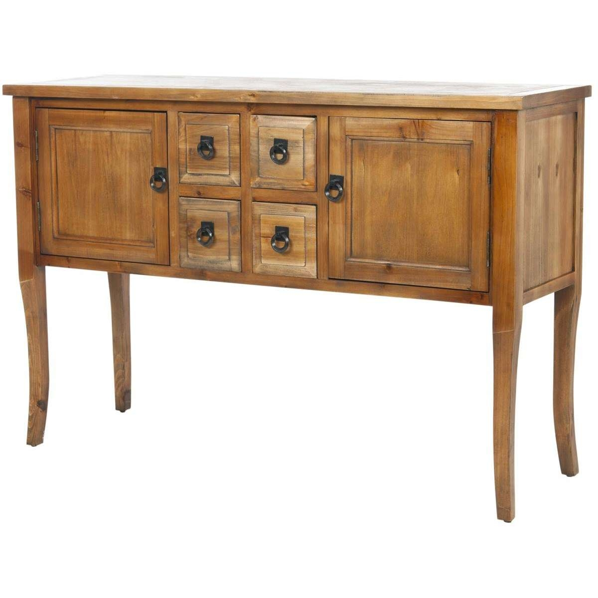 Safavieh Amh6563A Dolan Sideboard In Light Oak – Homeclick Throughout Safavieh Sideboards (View 10 of 20)