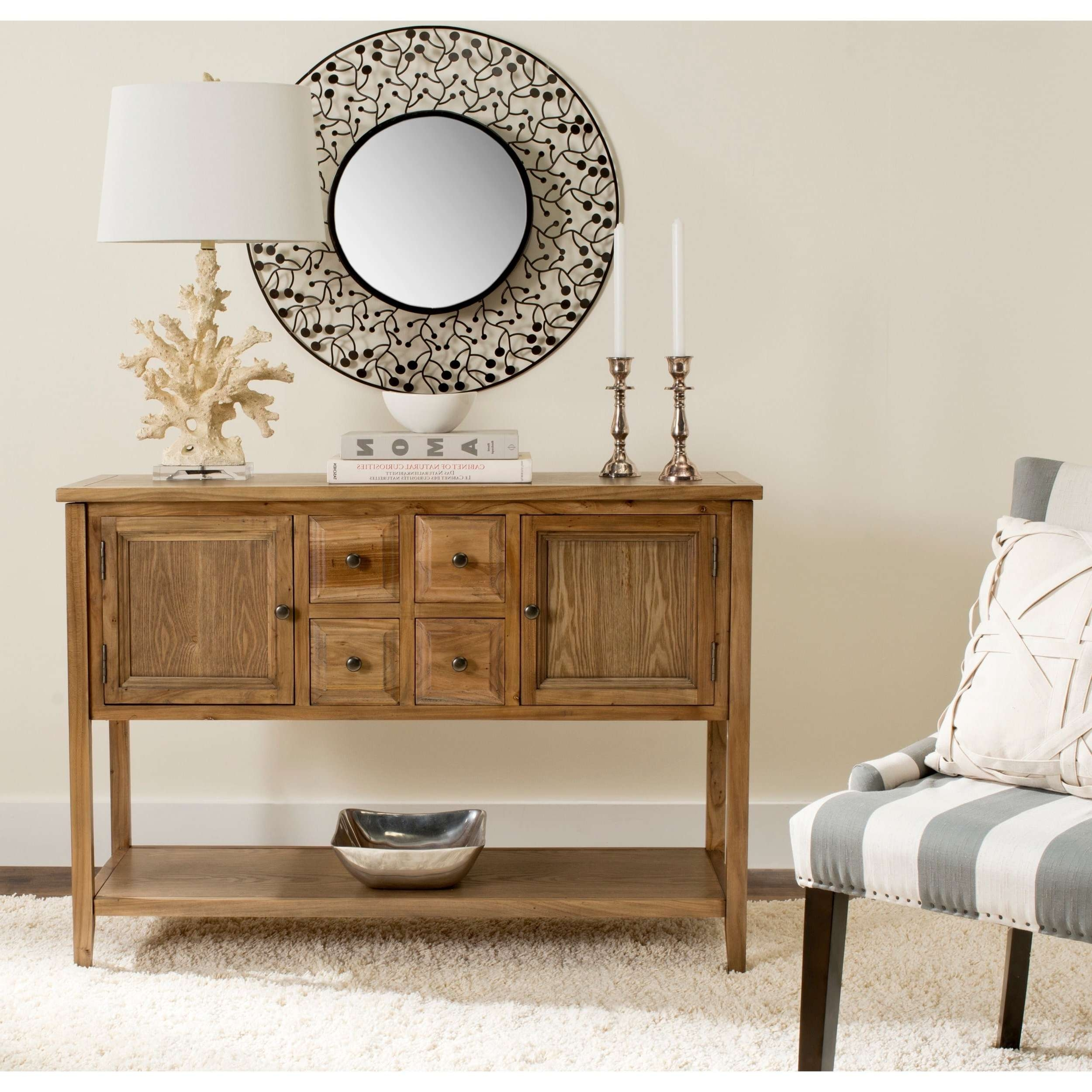 Safavieh Brighton Oak Finish Storage Sideboard – Free Shipping Intended For Safavieh Sideboards (View 11 of 20)