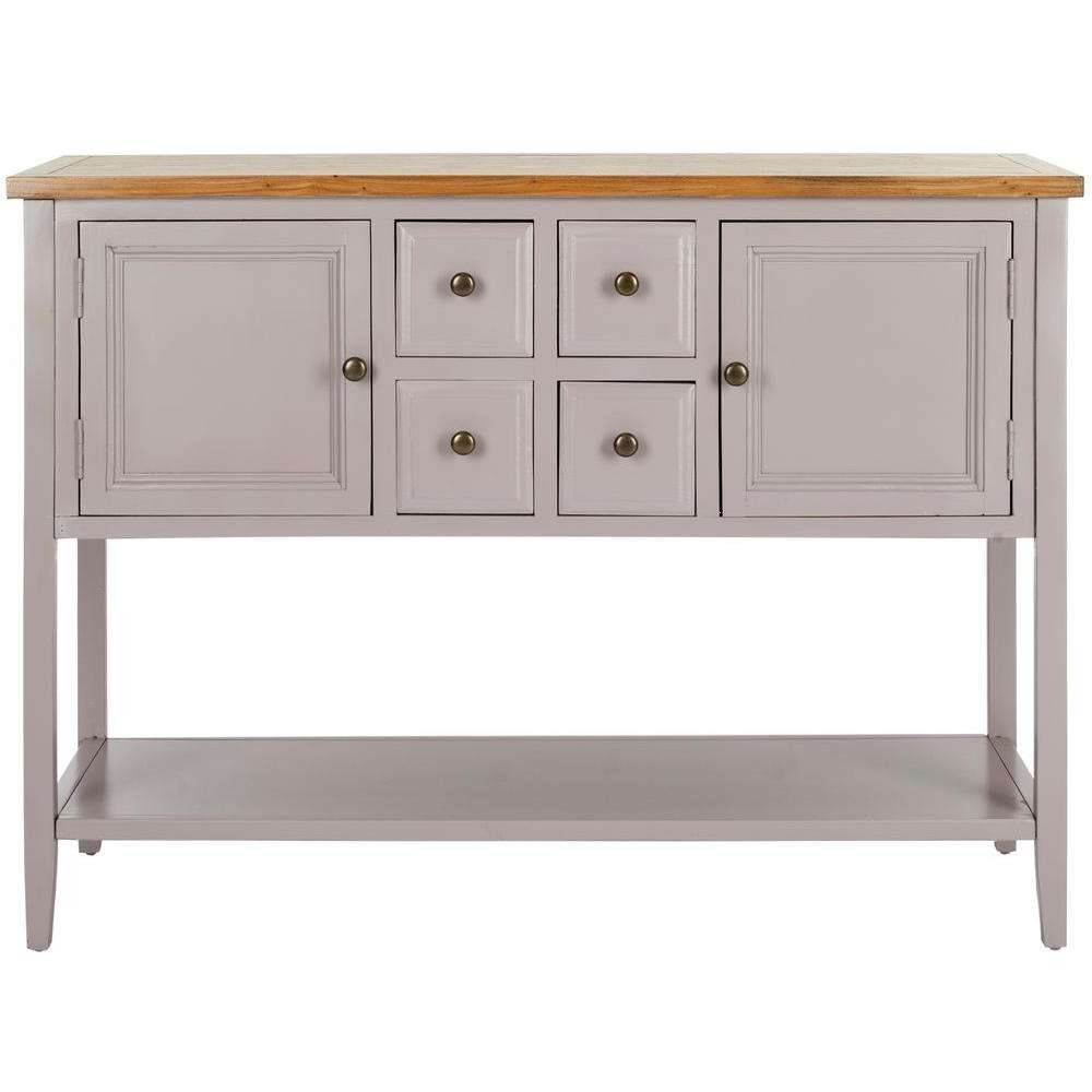 Safavieh Charlotte Quartz Grey And Oak Buffet With Storage In Red Buffet Sideboards (View 12 of 20)