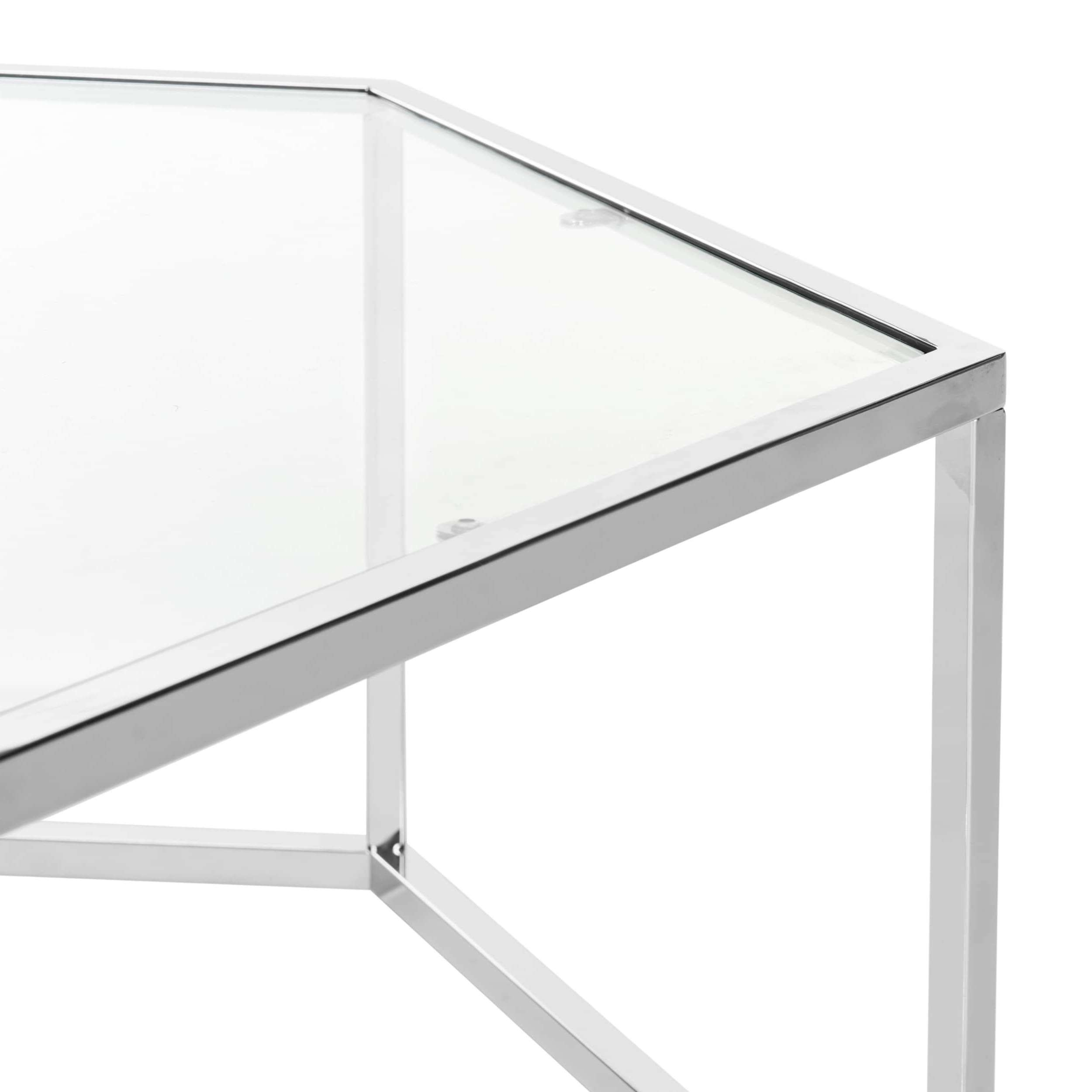 Safavieh Eliana Glass Chrome Coffee Table U2013 Free Shipping Today Pertaining  To Most Up To Date