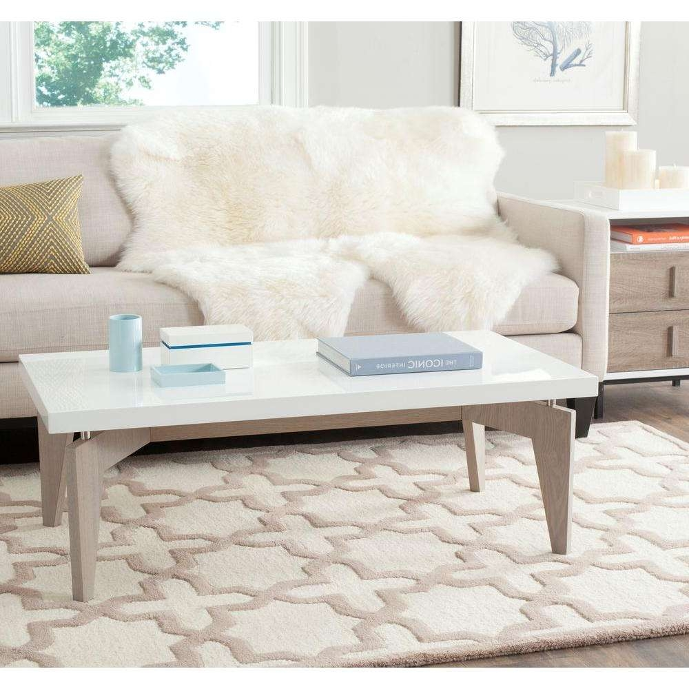 Safavieh Josef White And Gray Coffee Table Fox4223B – The Home Depot Pertaining To Most Current Safavieh Coffee Tables (View 16 of 20)