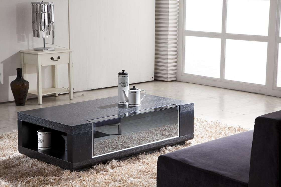 Sample Of Modern Coffee Table Set Gallery Design – White Modern Within 2018 Dark Wood Coffee Tables With Glass Top (View 21 of 23)