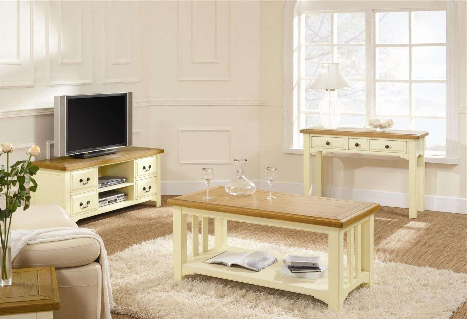 Sandringham Oak & Cream Coffee Table Cream Coffee Table With Glass Intended For Favorite Oak And Cream Coffee Tables (View 6 of 20)