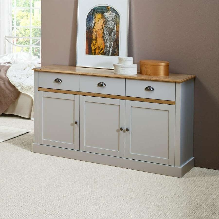 Sandy Grey Large And Small Sideboards | Sideboards Online – Zurleys Uk Within Grey Sideboards (View 8 of 20)