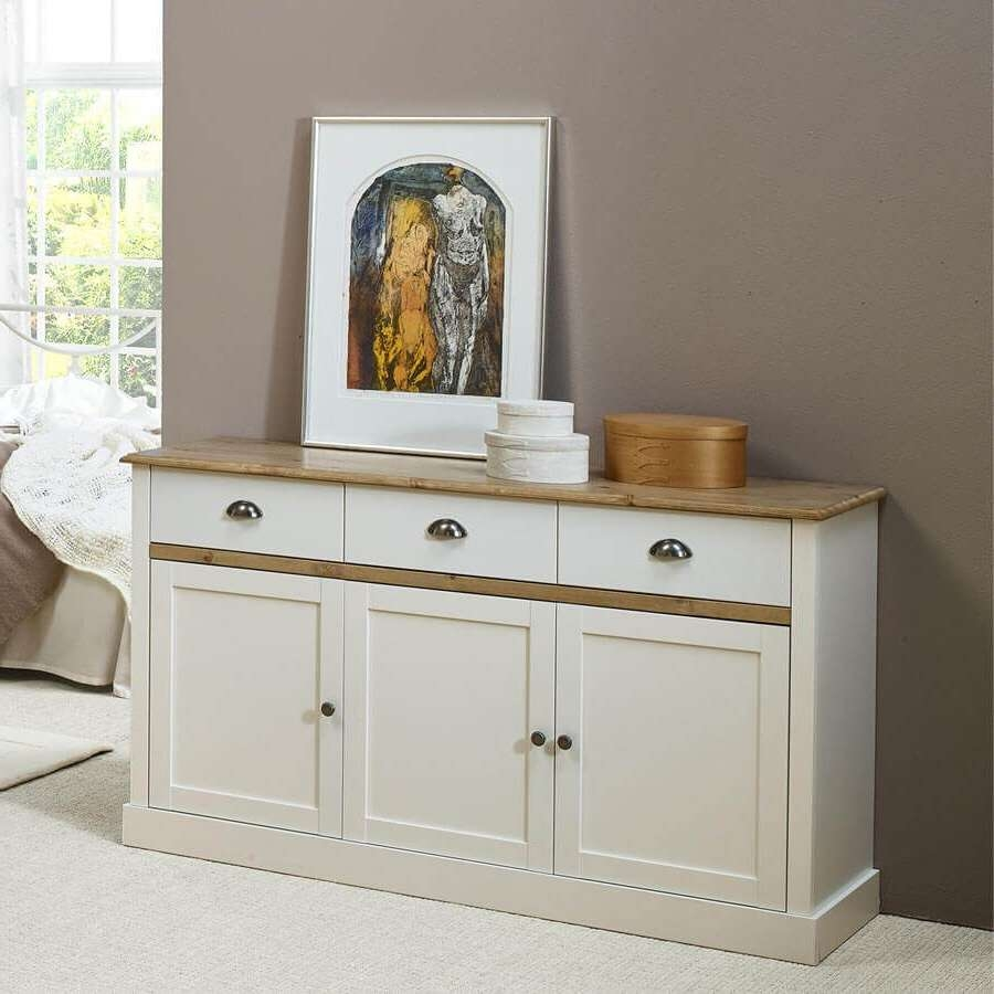Sandy White Large And Small Sideboards | Sideboards Online For Large White Sideboards (View 15 of 20)