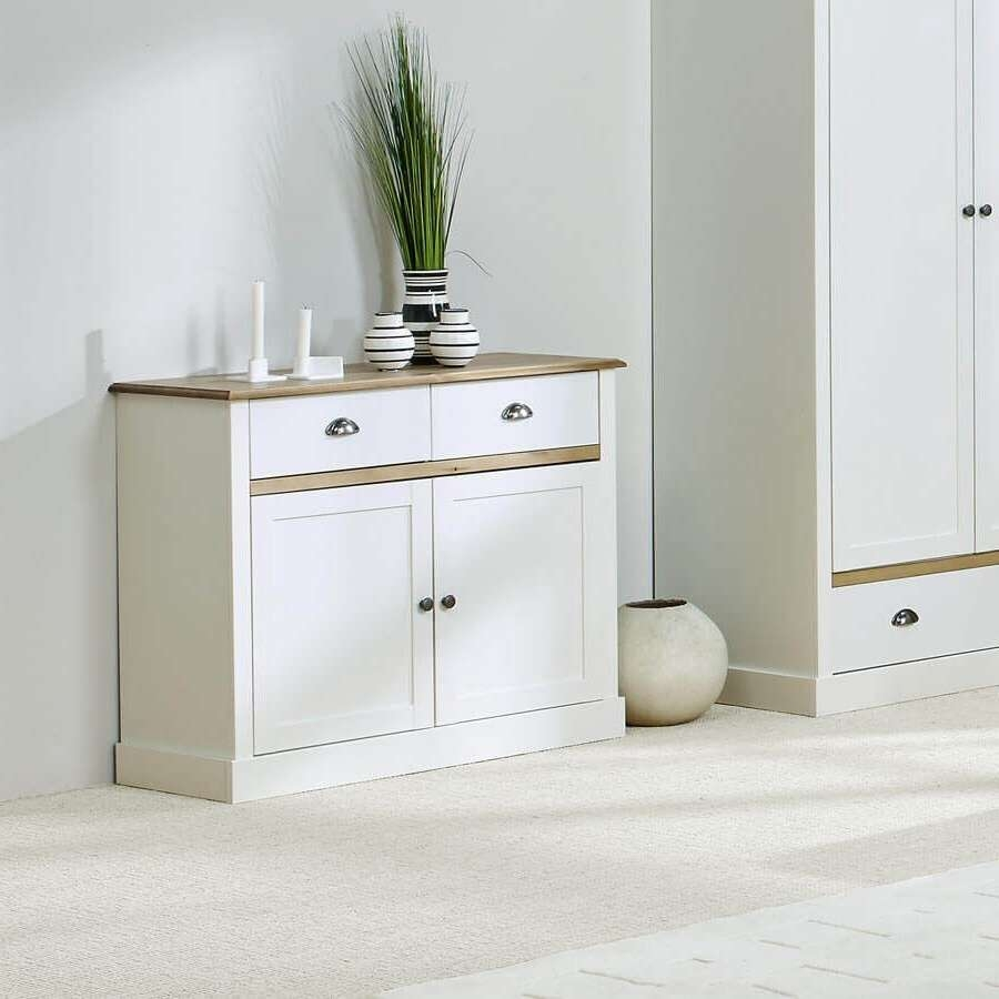 Sandy White Large And Small Sideboards | Sideboards Online Inside White Sideboards (View 14 of 20)