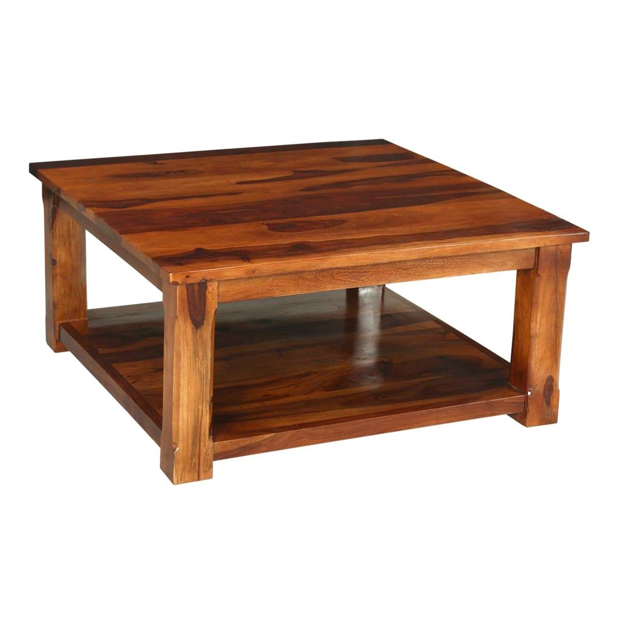 Santa Fe Easy Solid Wood Single Shelf Tv Cabinet Coffee Table For Widely Used Rustic