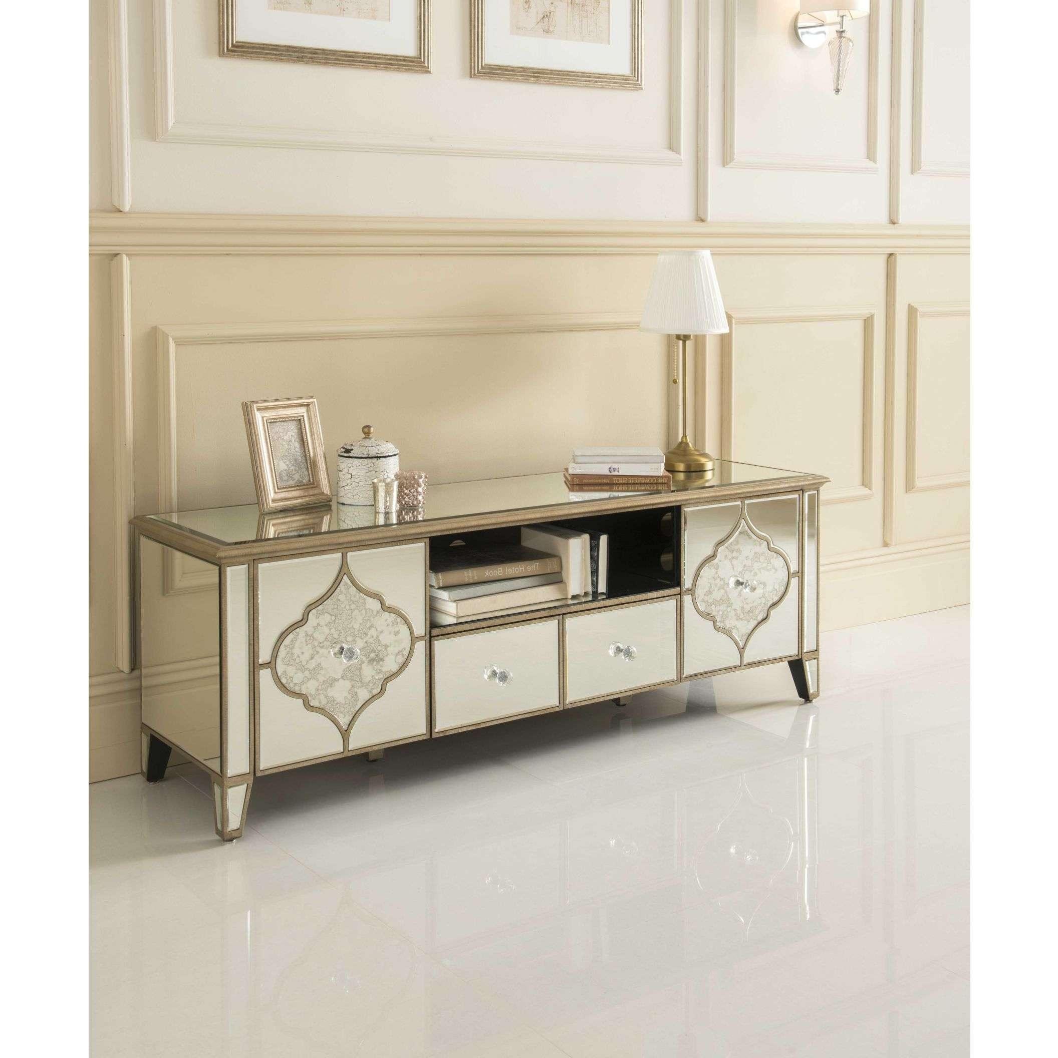 Sassari Mirrored Tv Cabinet | Glass Furniture Regarding Mirror Tv Cabinets (View 3 of 20)