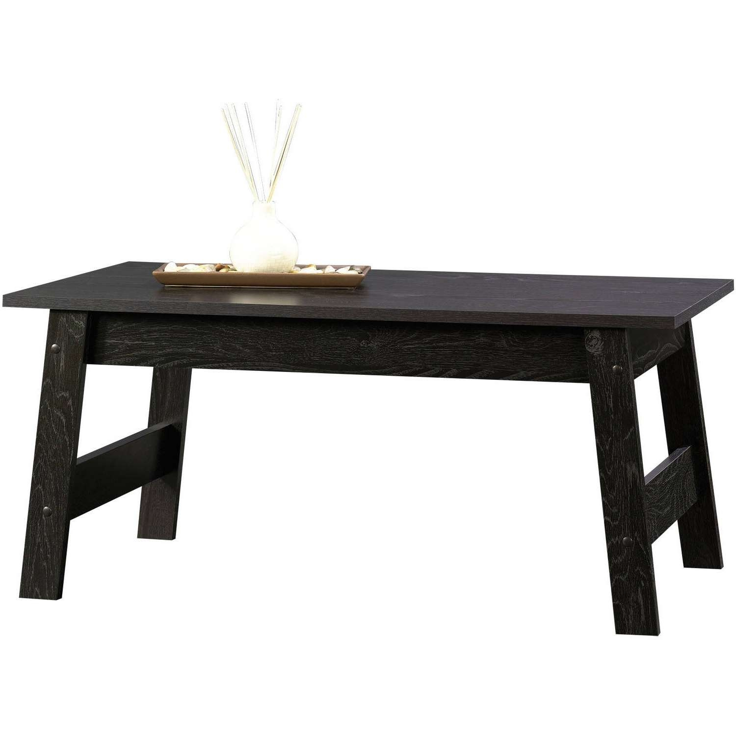 Sauder Beginnings Collection Coffee Table, Black – Walmart For Popular White And Black Coffee Tables (View 13 of 20)