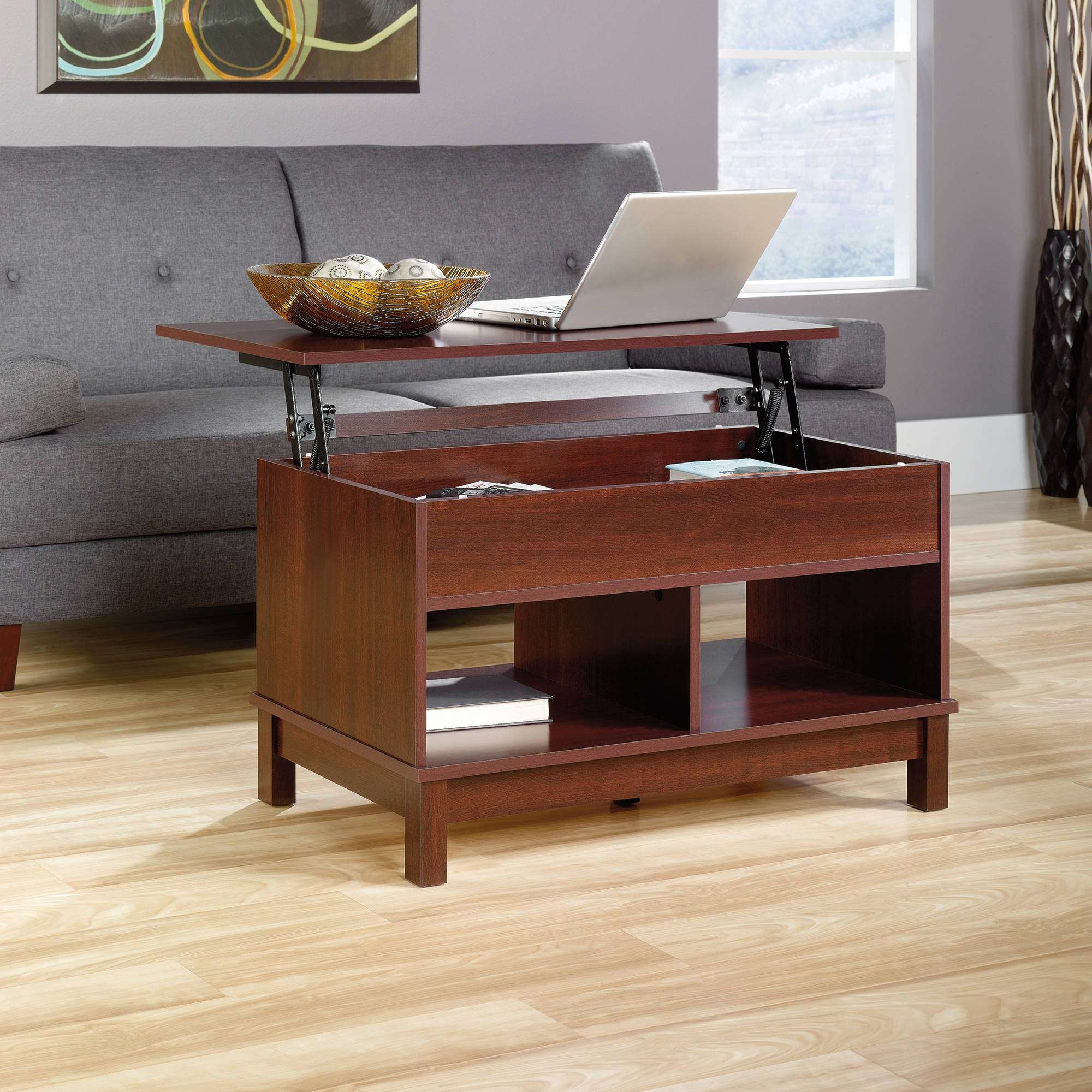 Sauder Kendall Square Lift Top Coffee Table, Cherry – Walmart Throughout Current Lift Top Coffee Tables With Storage (View 5 of 20)