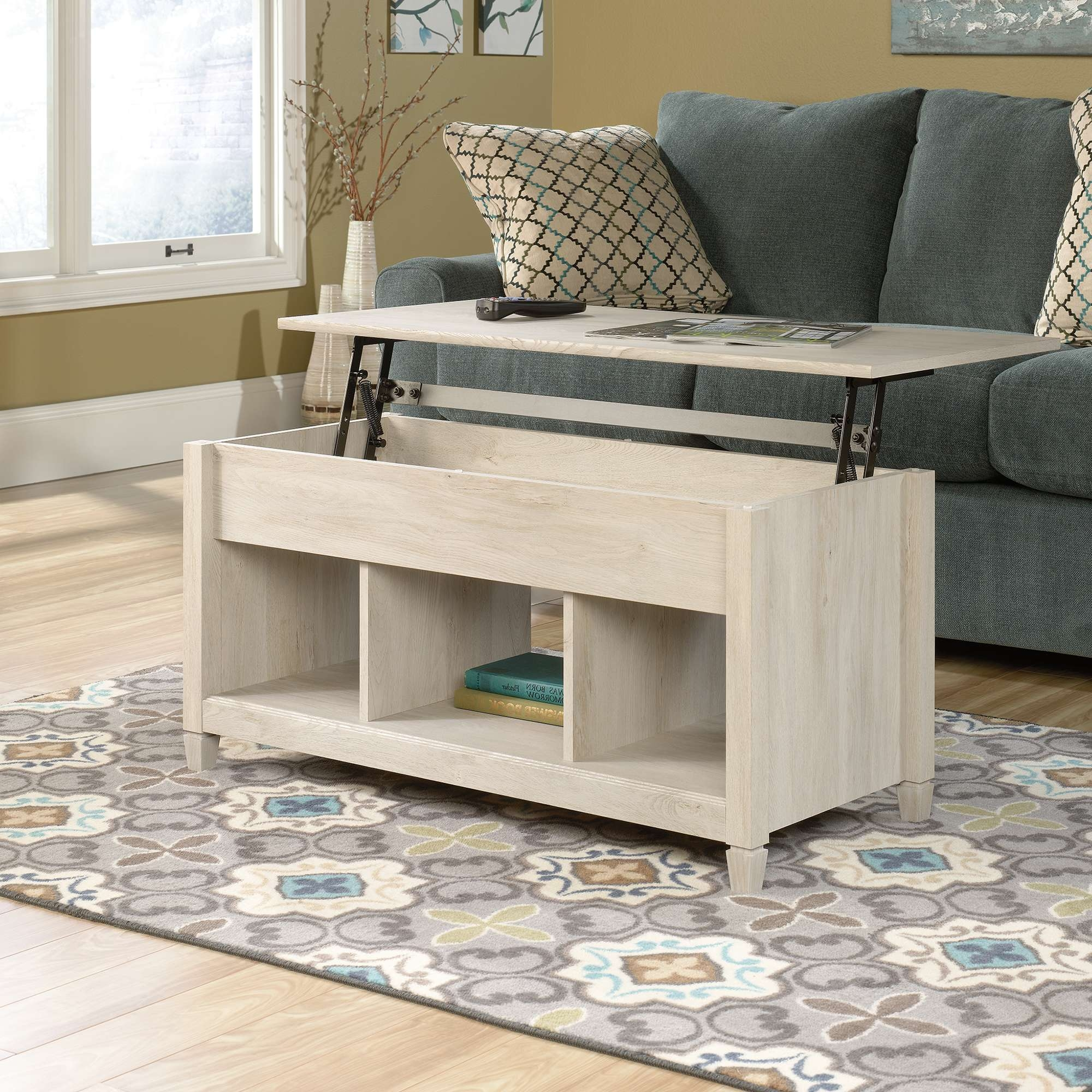 Sauder Throughout Fashionable Coffee Tables Top Lifts Up (View 17 of 20)