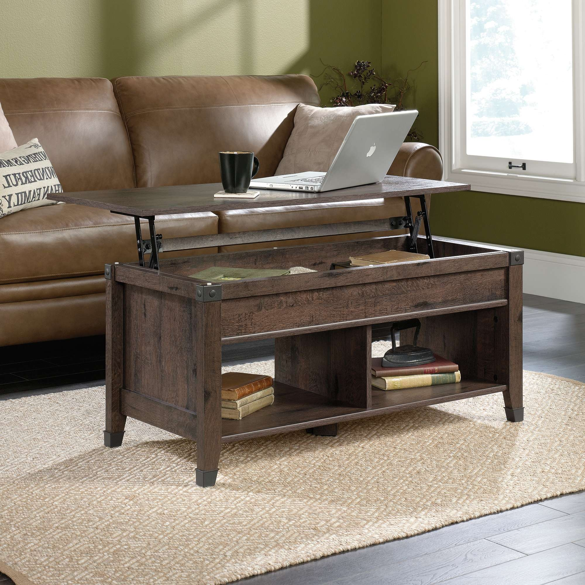 Sauder With Regard To Fashionable Coffee Table With Raised Top (View 9 of 20)