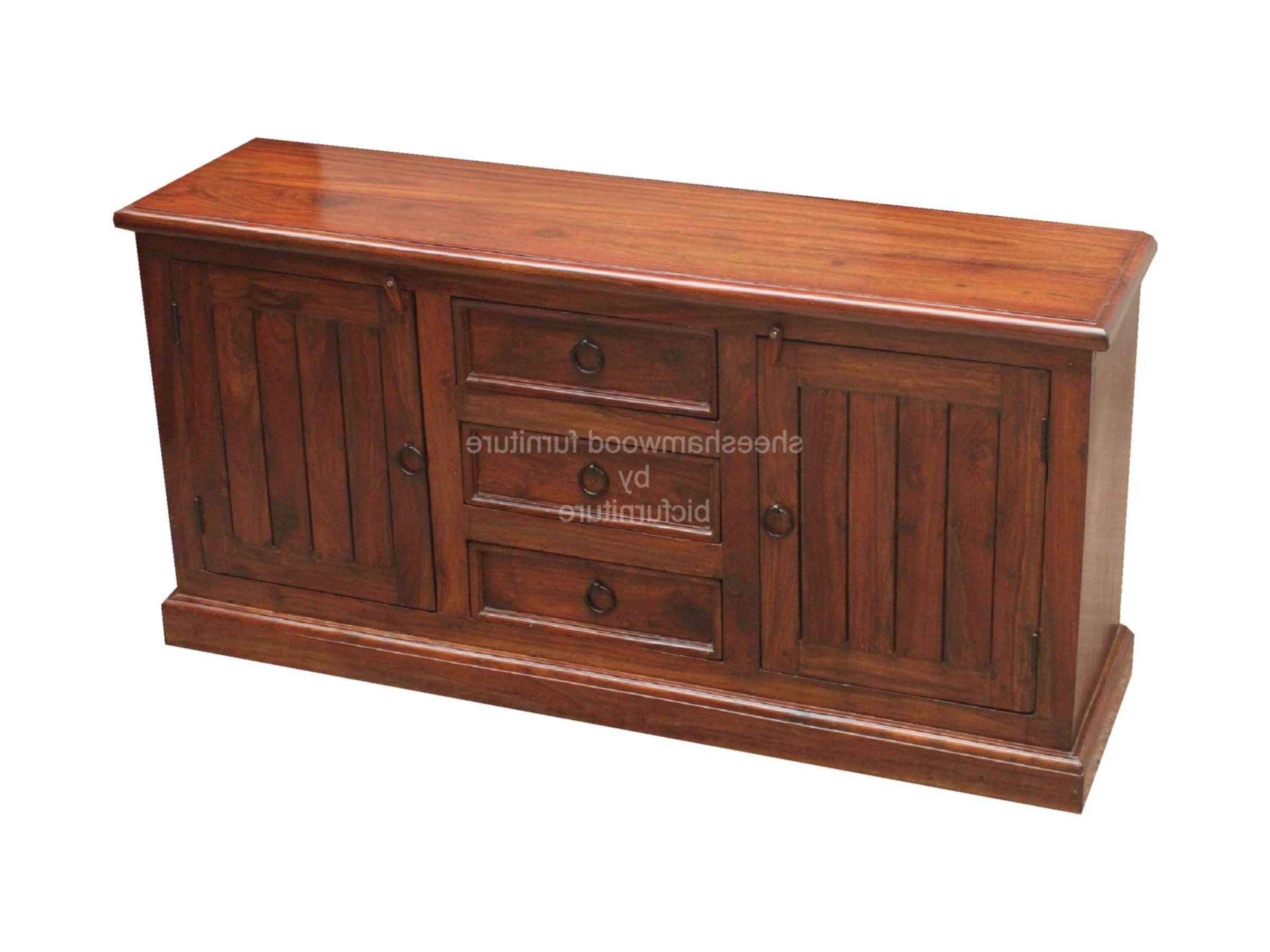 Sb 61 Small Sheesham Wood Sideboard Details | Bic Furniture India Intended For Wooden Sideboards (View 10 of 20)