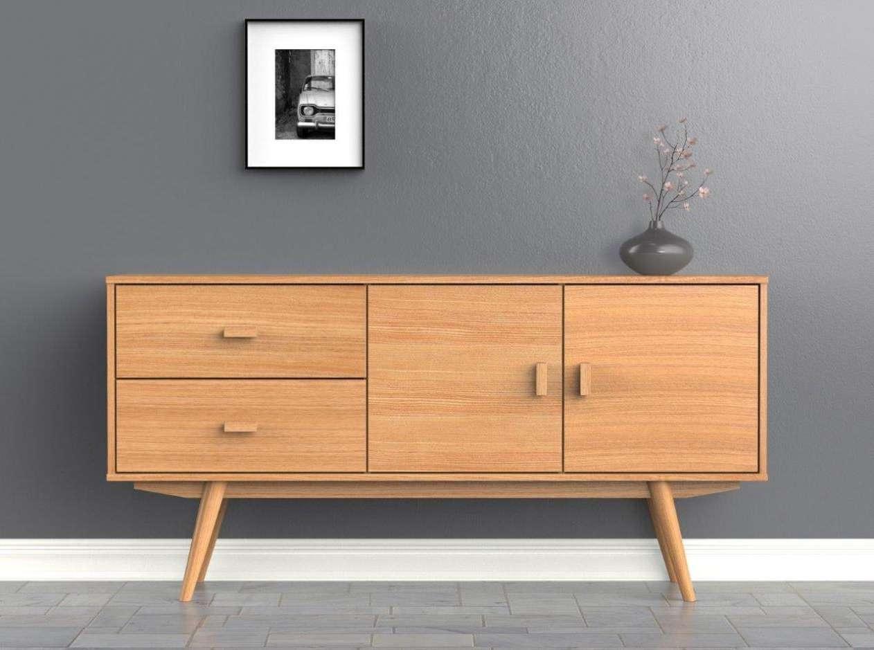 Scandi Sideboard – Large – Buffet – Ash – Scandinavian Style For Scandinavian Sideboards (View 2 of 20)