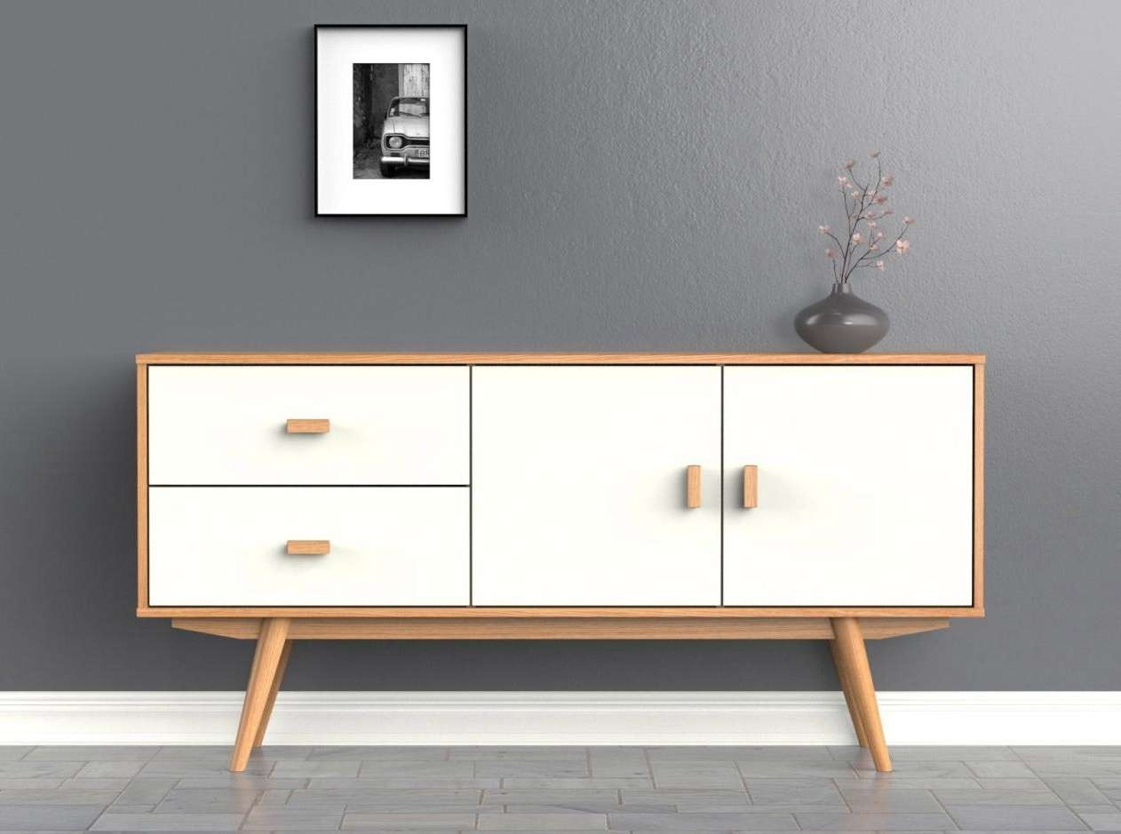 Scandi Sideboard – Large – White – Buffet – Scandinavian Retro Throughout Large White Sideboards (View 16 of 20)