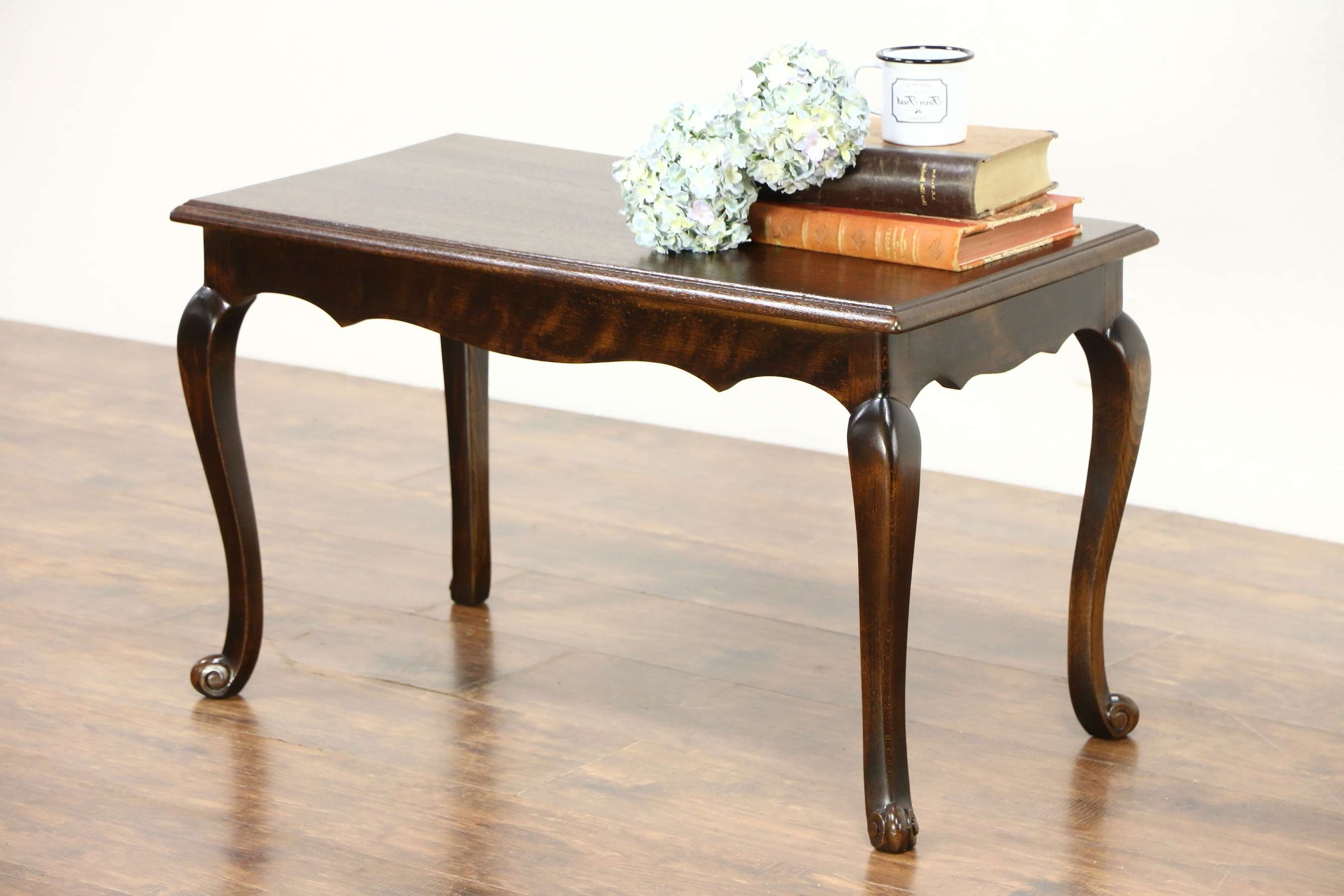 Scandinavian 1930's Vintage Bench Or Coffee Table, Oak & Beech In Most Recent Beech Coffee Tables (View 7 of 20)