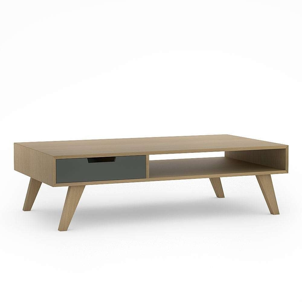 Scandinavian Design Coffee Table / Oak / Solid Wood / Wood Veneer Throughout 2017 Retro Oak Coffee Tables (View 18 of 20)