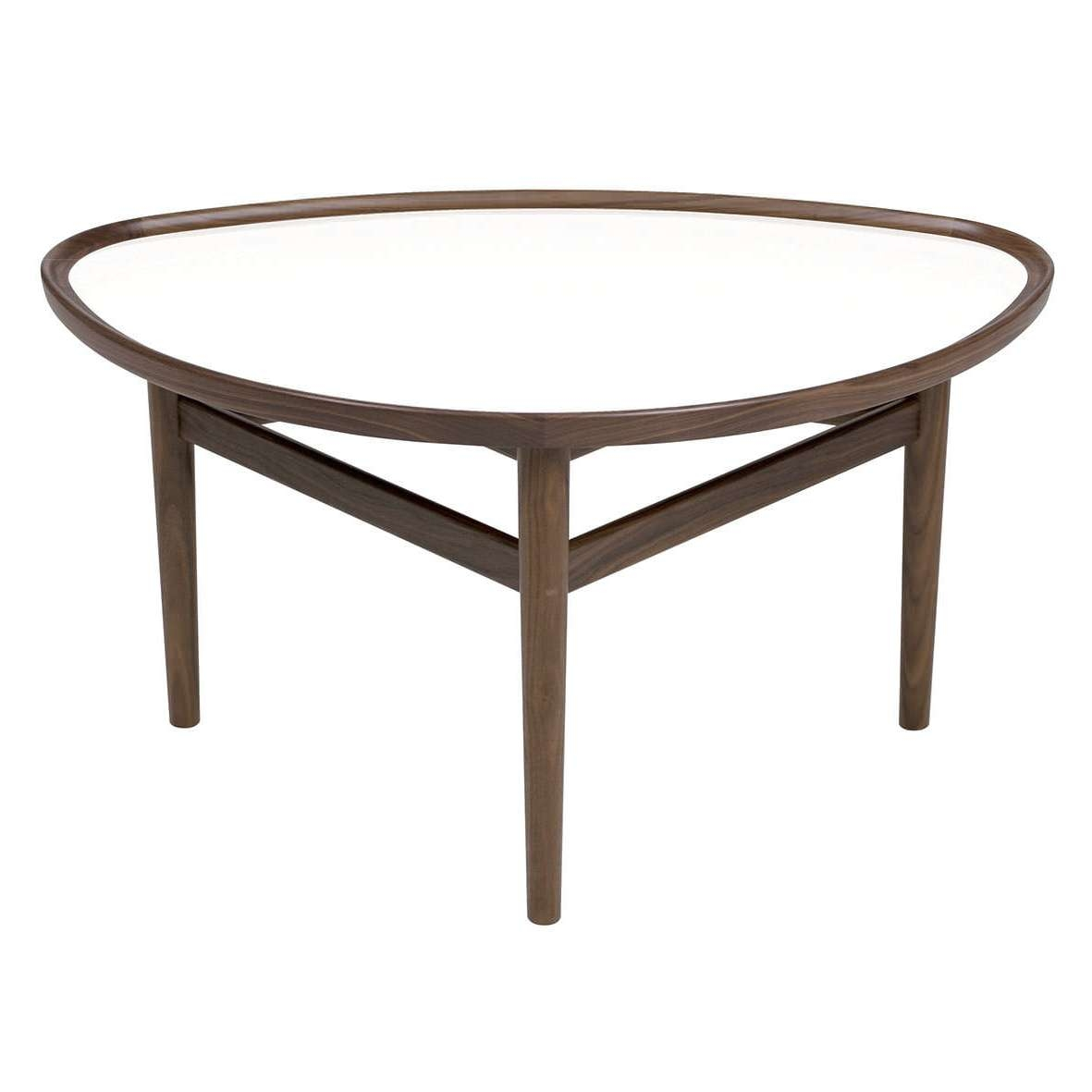 Scandinavian Design Coffee Table / Walnut / Teak / Oval – Eye In Most Up To Date Oval Walnut Coffee Tables (View 17 of 20)