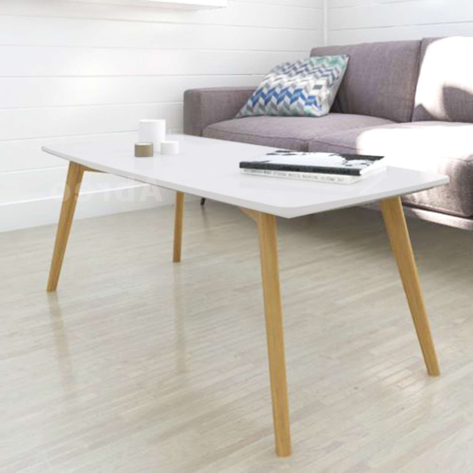 Scandinavian Retro Style Coffee Table Abreo Home Furniture For Latest Retro White Coffee Tables (View 7 of 20)