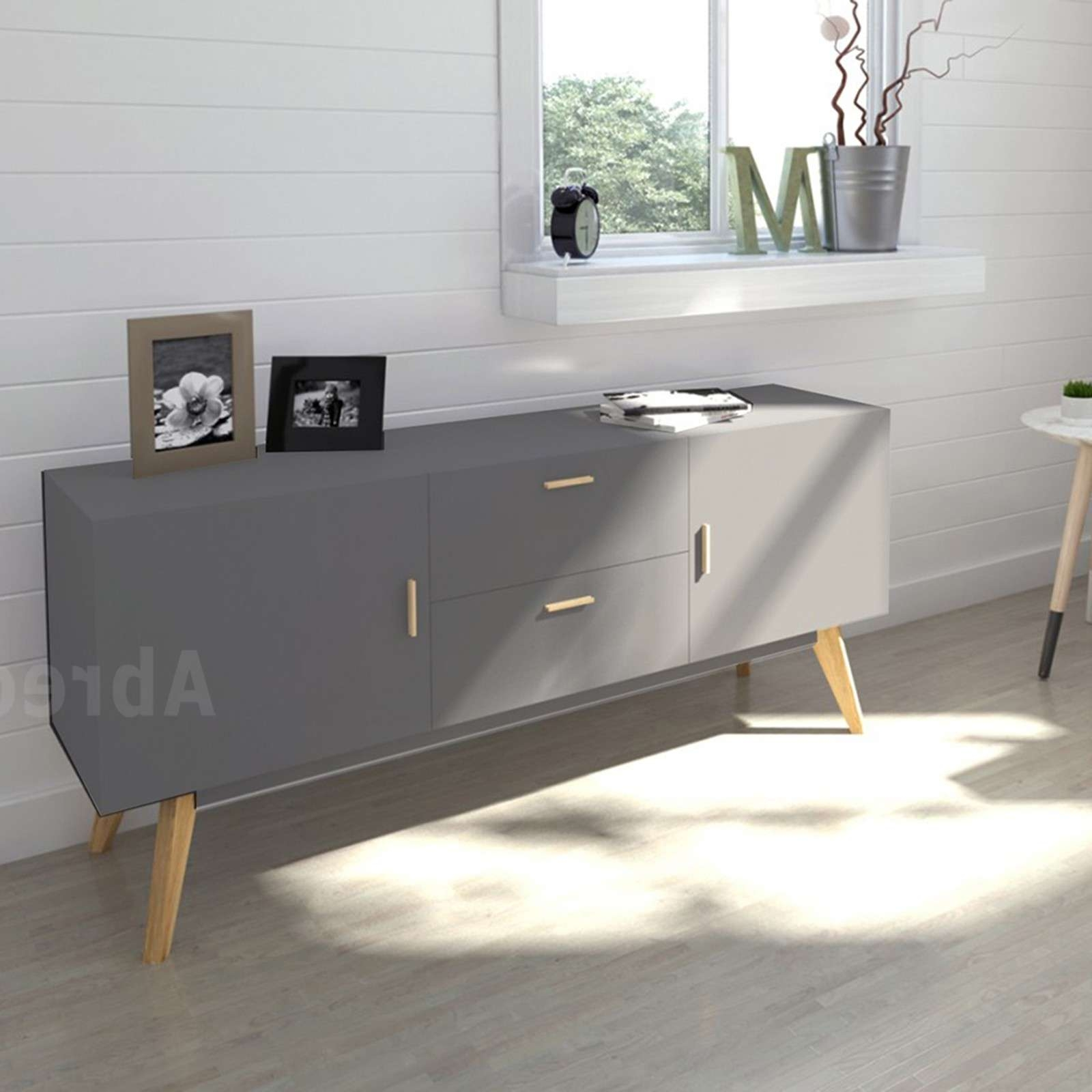 Scandinavian Retro Style White Sideboard Abreo Home Furniture Regarding Scandinavian Sideboards (View 9 of 20)