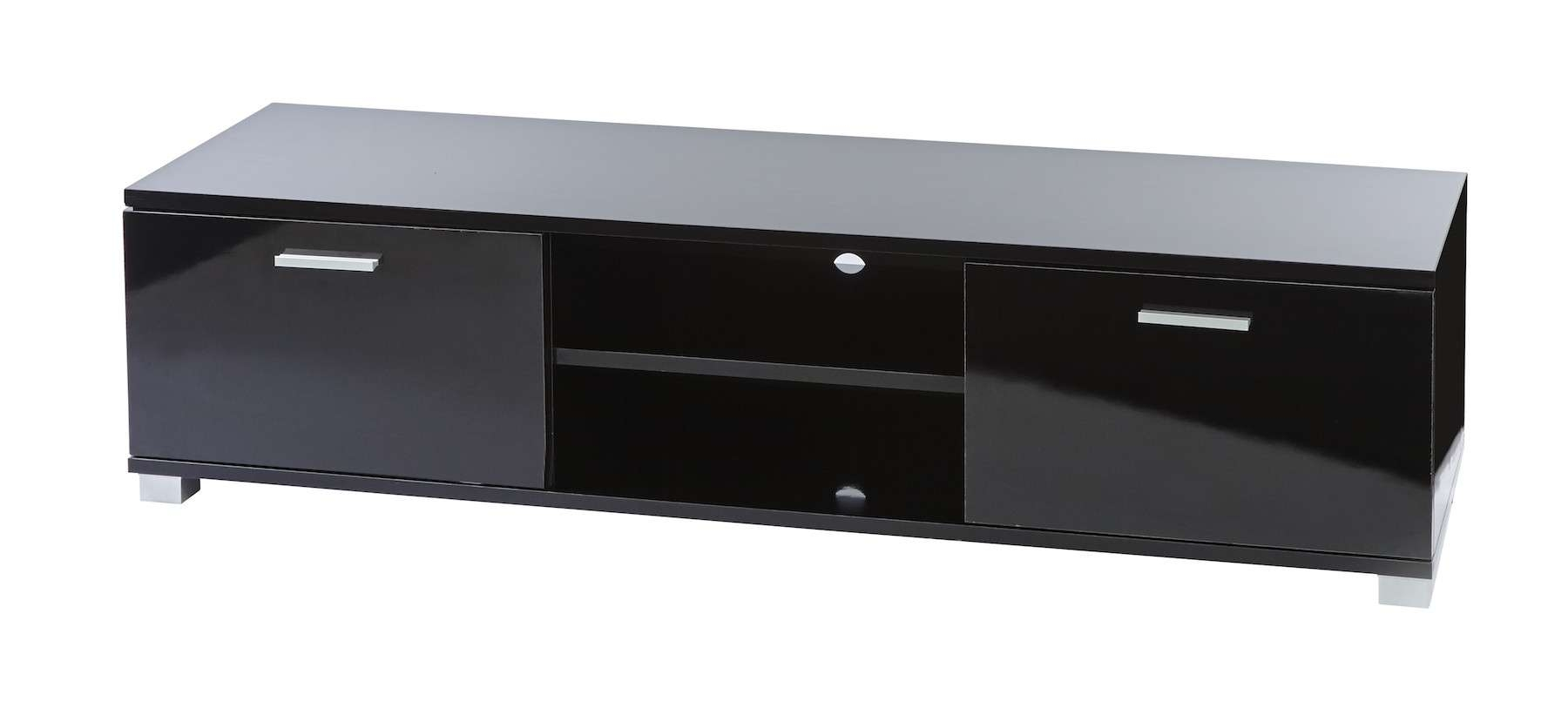 Sd Ht01 Black Gloss Tv Cabinet For Up To 60 Inch Lcd Led Screens Pertaining To Black Gloss Tv Cabinets (View 10 of 20)