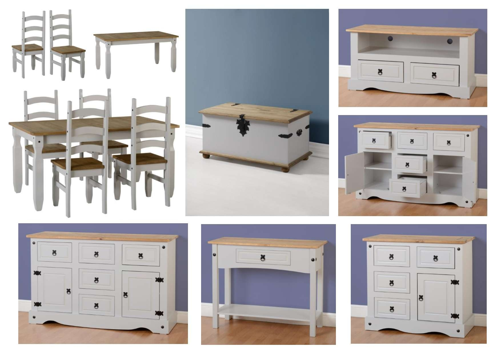 Seconique Corona Grey Living Room Furniture – Sideboards Tables Inside Grey Sideboards (View 17 of 20)