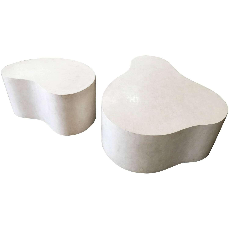 "Set Of Three Extraordinary ""free Form Coffee Tables""karl In Latest Free Form Coffee Tables (View 3 of 20)"