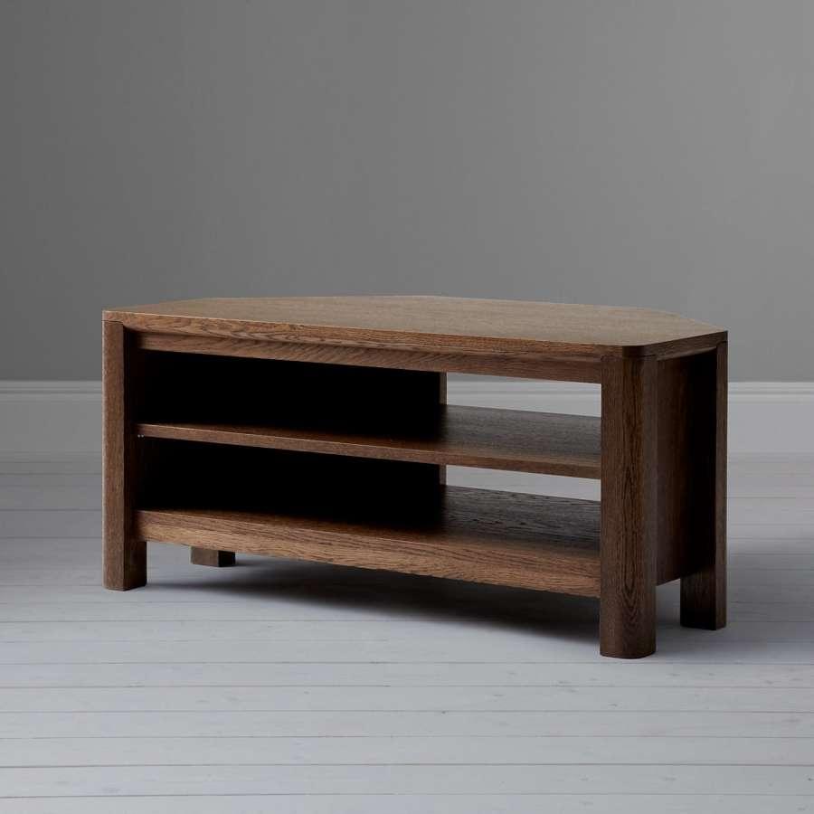 Seymour Dark Corner Tv Unit | Qualita Regarding Dark Wood Corner Tv Cabinets (View 14 of 20)