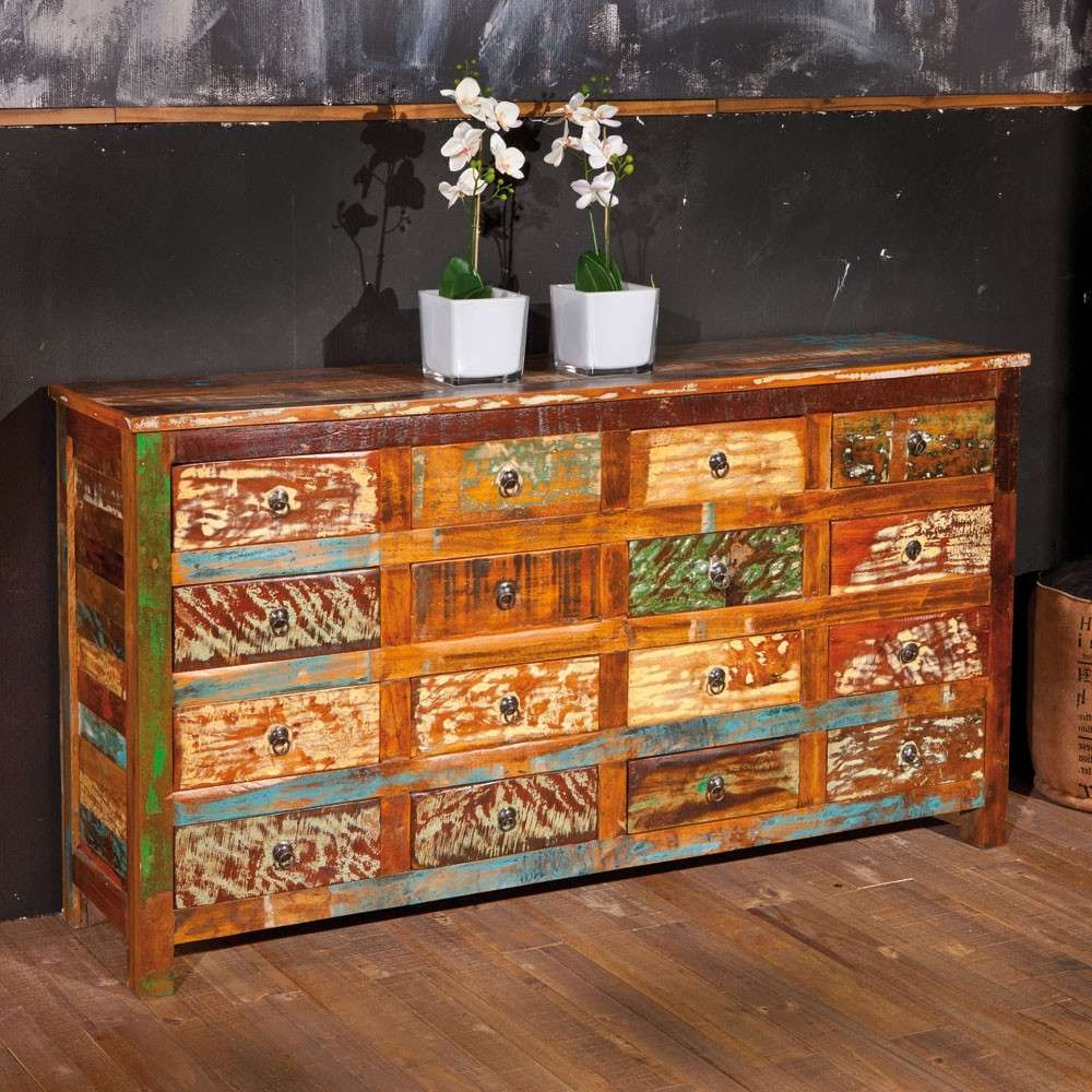 Shabby Chic Sideboard Rajada In Bunt Holz | Pharao (View 20 of 20)