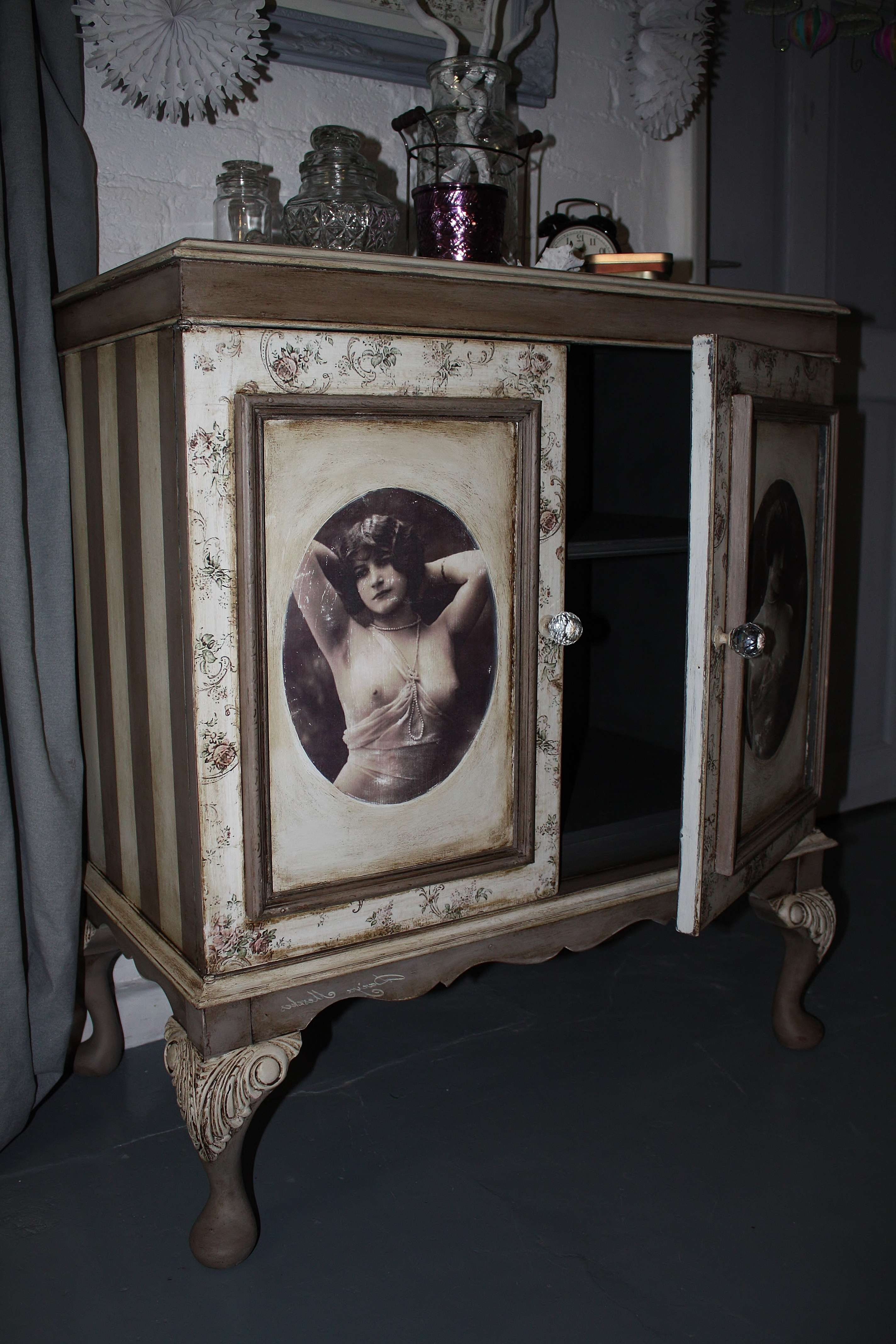 Shabby Chic Sideboard Tv Cabinet Cupboard Chest Of Drawers Dresser With French Style Tv Cabinets (View 16 of 20)