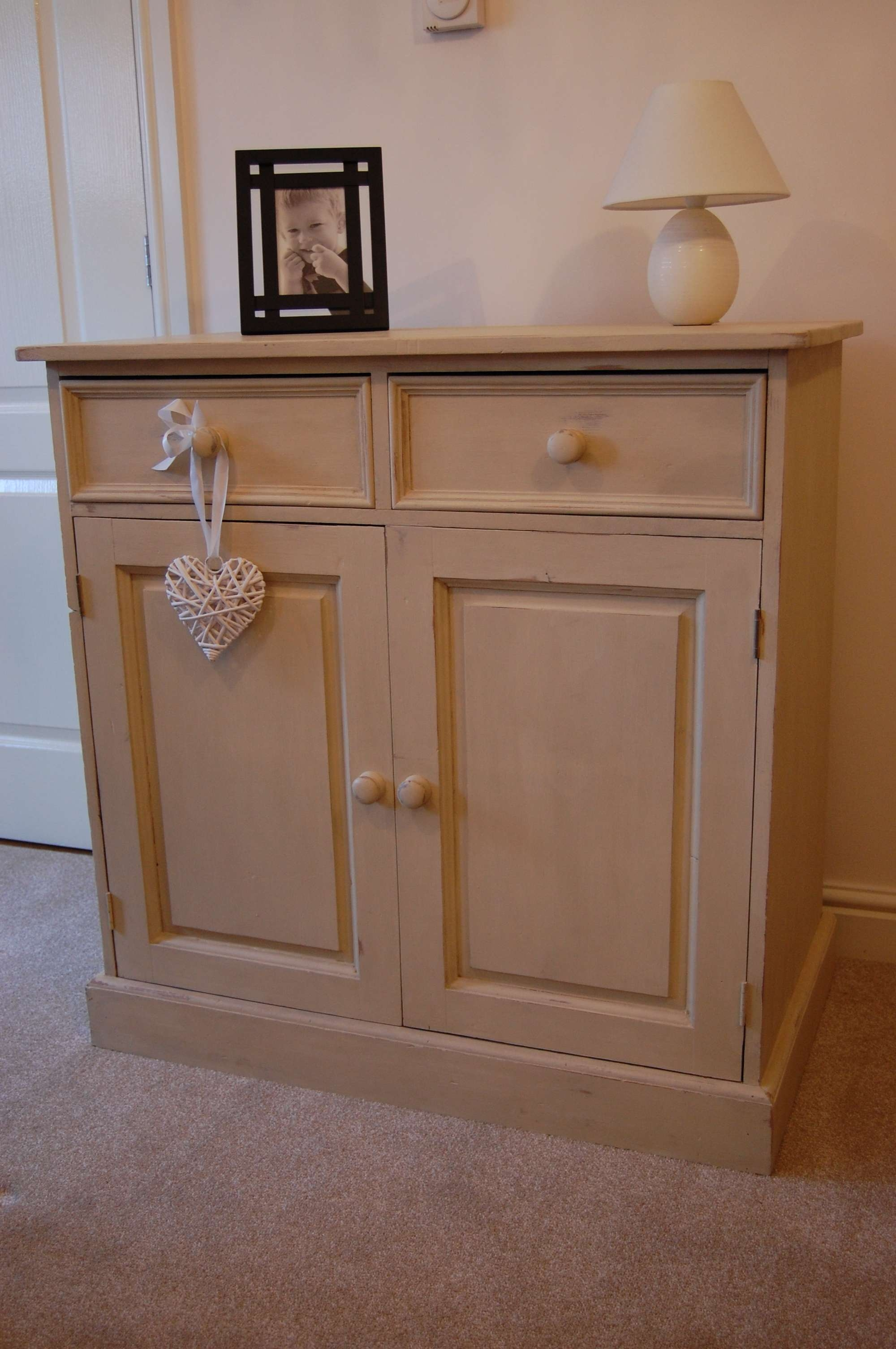 Shabby Chic Small Cream Sideboard, Plum Interior | With A Little Intended For Shabby Chic Sideboards (View 17 of 20)