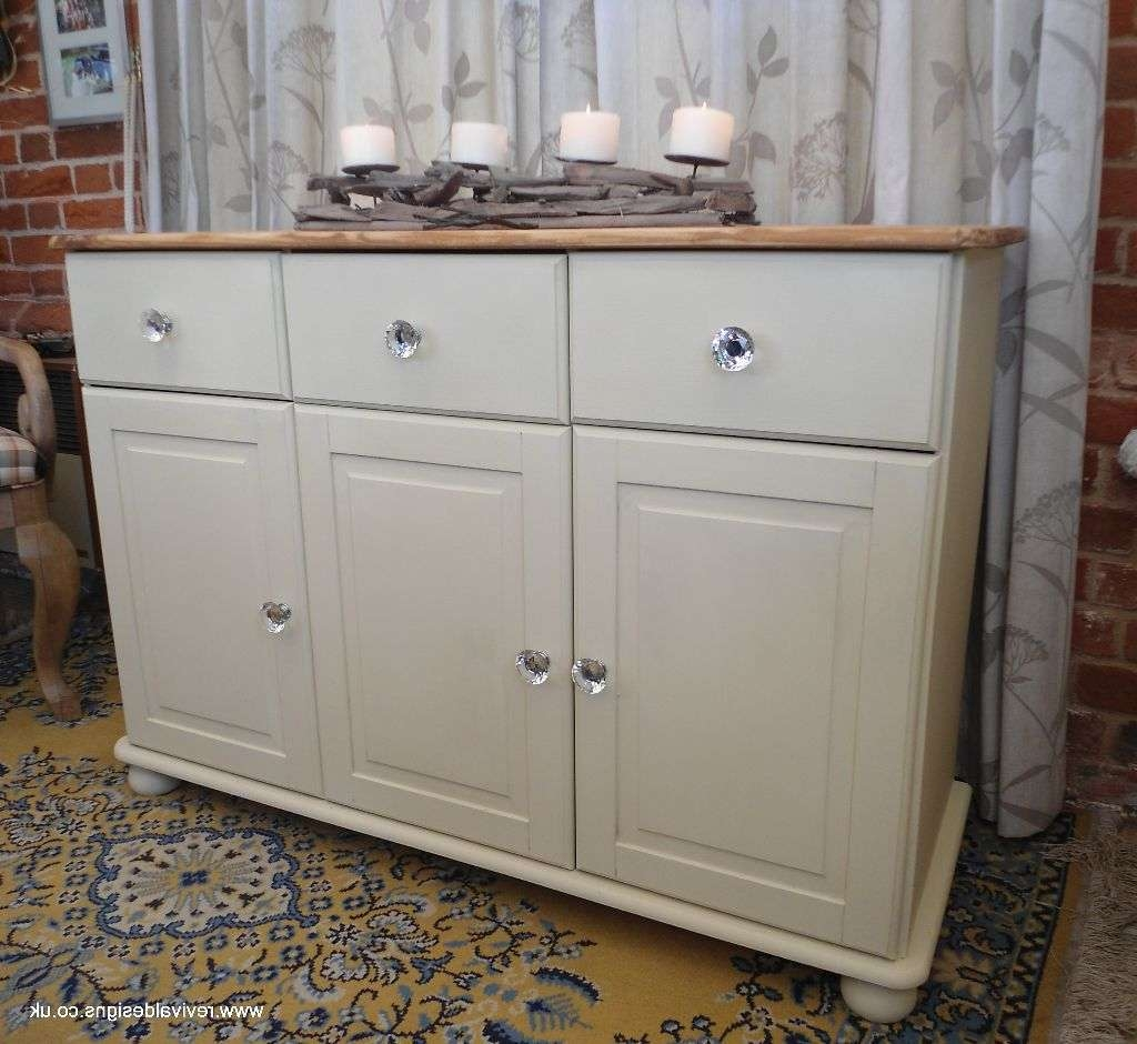 Shabby Chic Solid Pine Cream Sideboard With 3 Drawers | Revival In Shabby Chic Sideboards (View 8 of 20)