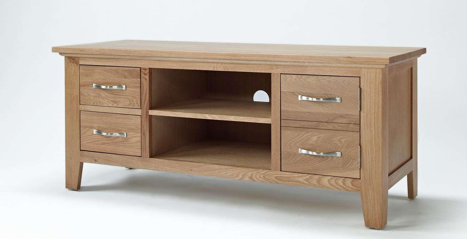 Sherwood Oak Tv Unit Pertaining To Contemporary Oak Tv Cabinets (View 16 of 20)