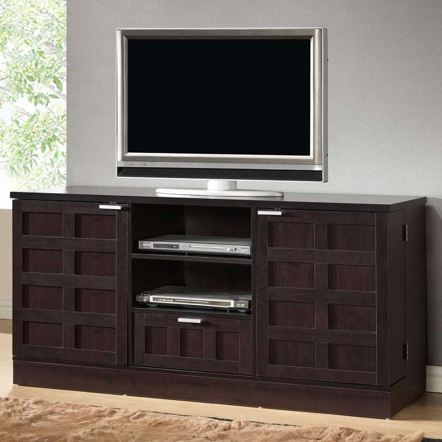 Shop Baxton Studio Tosato Wenge Rectangular Tv Cabinet At Lowes Pertaining To Wenge Tv Cabinets (View 19 of 20)