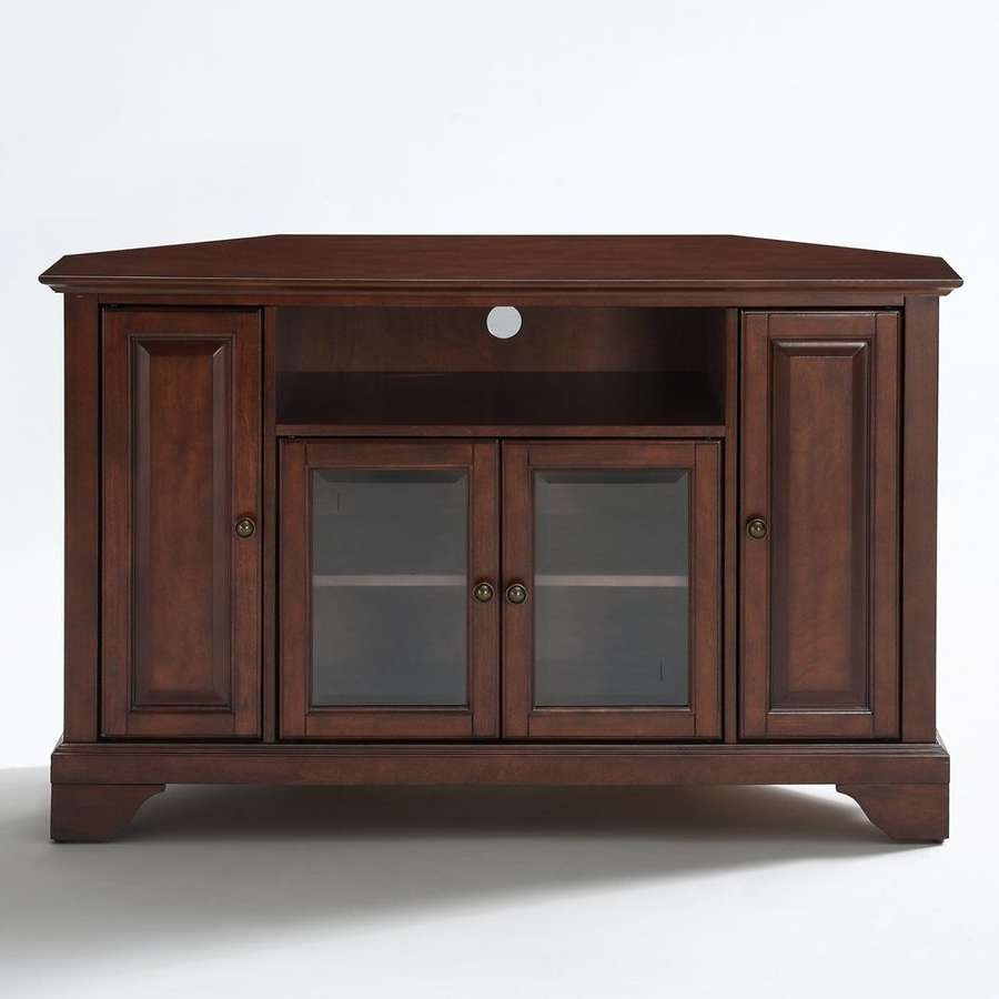 Shop Crosley Furniture Lafayette Vintage Mahogany Corner Tv Stand Regarding Mahogany Corner Tv Cabinets (View 12 of 20)