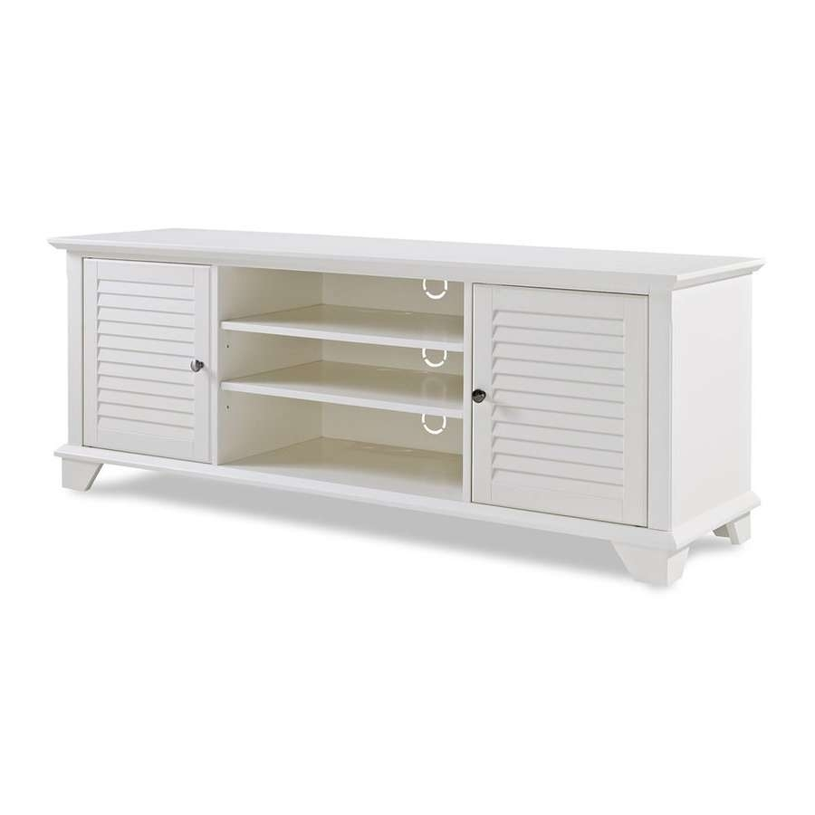 Shop Crosley Furniture Palmetto White Tv Cabinet At Lowes For White Tv Cabinets (View 13 of 20)