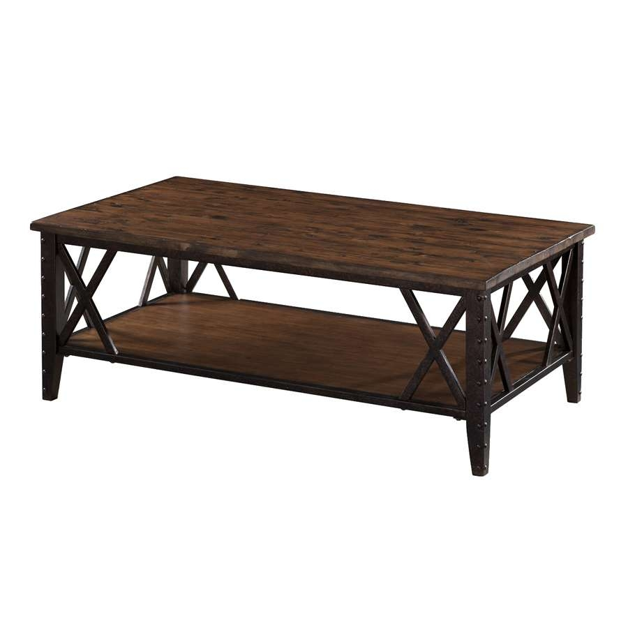 Shop Magnussen Home Fleming Pine Coffee Table At Lowes Throughout Fashionable Pine Coffee Tables (View 16 of 20)
