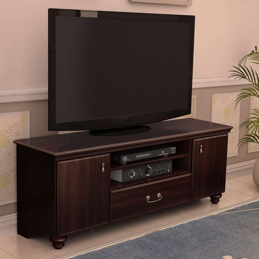 Shop South Shore Furniture Noble Dark Mahogany Tv Cabinet At Lowes With Mahogany Tv Cabinets (View 17 of 20)
