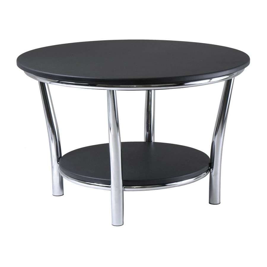 Shop Winsome Wood Maya Black Round Coffee Table At Lowes In Best And Newest Black Circle Coffee Tables (View 16 of 20)