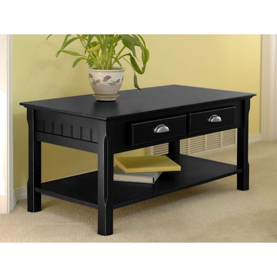 Shop Winsome Wood Timber Black Coffee Table At Lowes In Recent Black Coffee Tables (View 18 of 20)