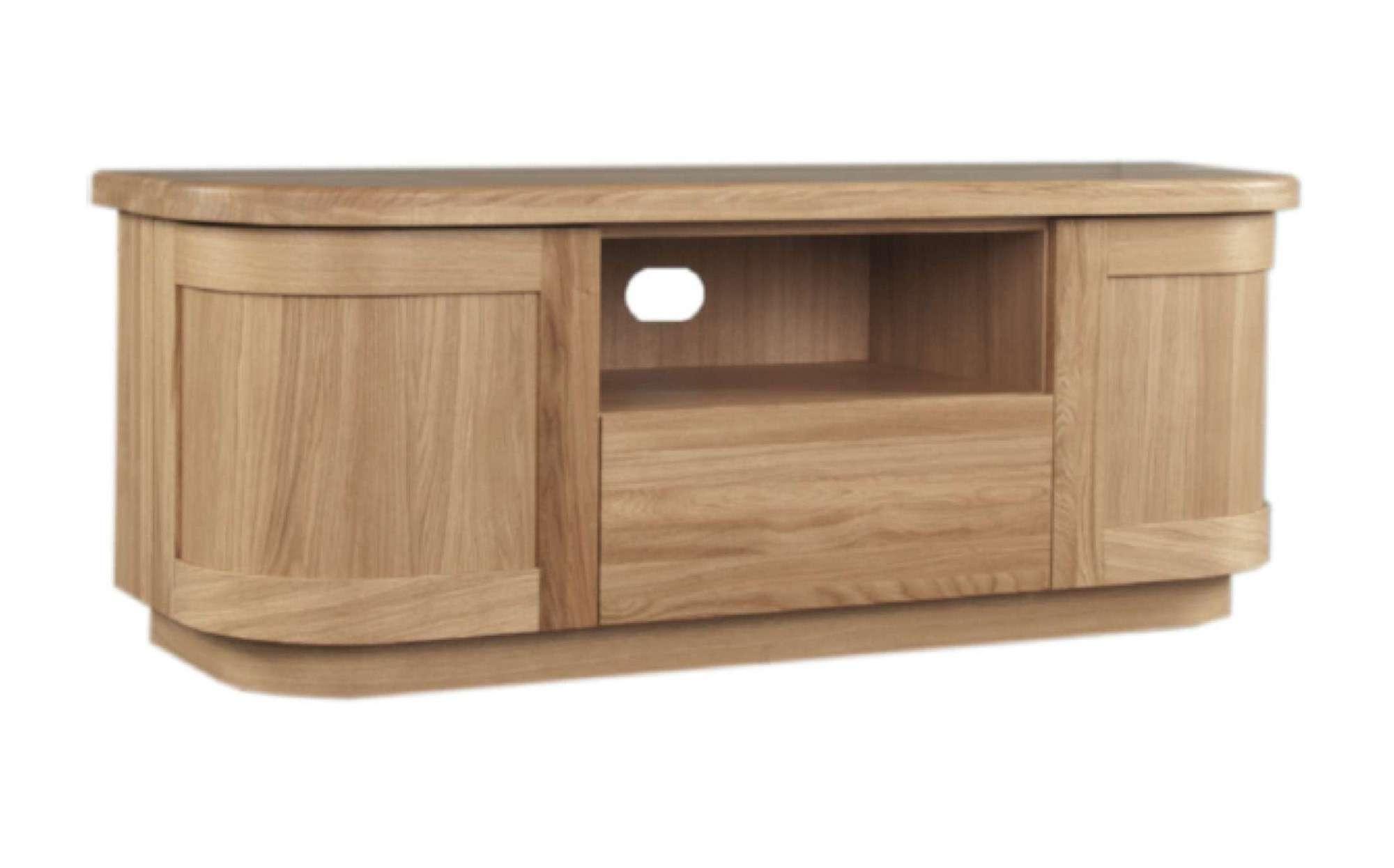 Sicily Solid Oak Tv Unit | Ice Interiors Inside Oak Tv Cabinets (View 10 of 20)