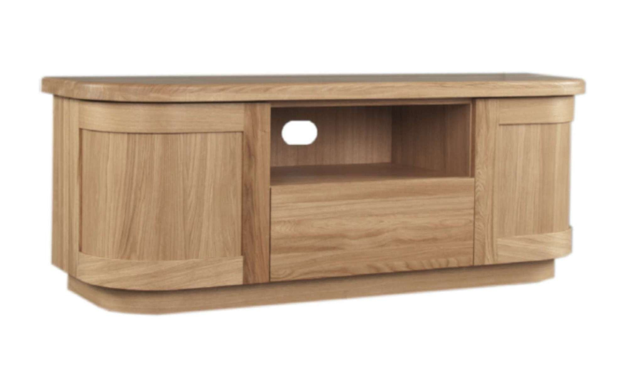 Sicily Solid Oak Tv Unit | Ice Interiors With Large Oak Tv Cabinets (View 14 of 20)
