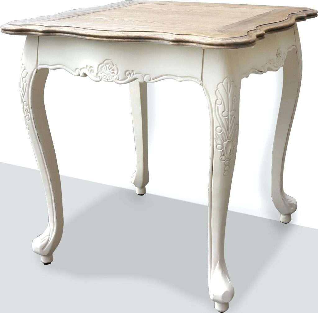 Side Table ~ French Side Tables Provincial Bed End Lamp Table In With Recent French White Coffee Tables (View 9 of 20)