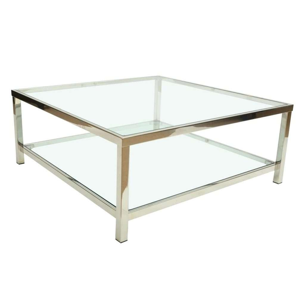 Side Table ~ Glass Side Tables Great Chrome And For Online With In Newest Chrome Glass Coffee Tables (View 18 of 20)