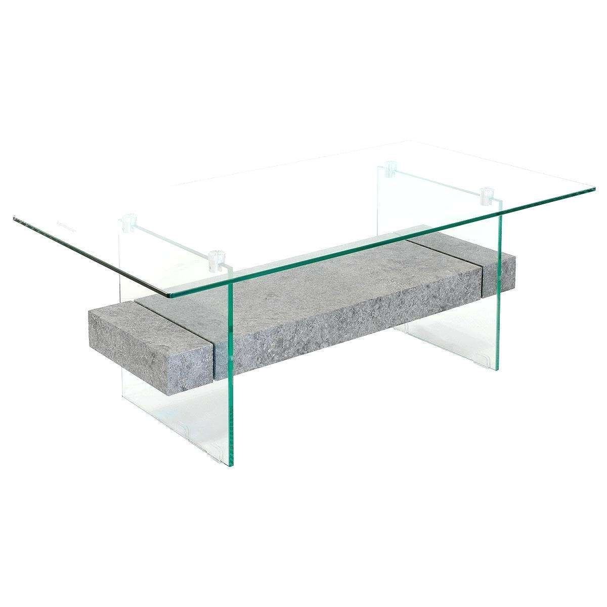 Side Table ~ Modern Glass Side Table Coffee Sets Wood Top Modern Throughout Well Known Glass And Stone Coffee Table (View 17 of 20)