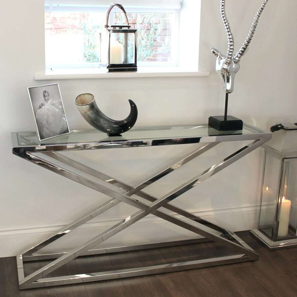 Side Table ~ Side Console Table Chunky Chrome Glass Maybe We Could Throughout Outdoor Sideboards Tables (View 12 of 20)