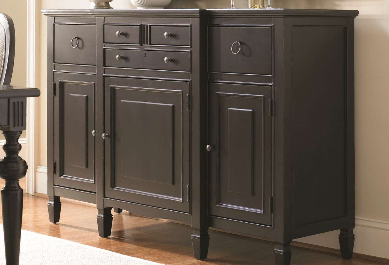 Sideboard : Amazing Black Sideboard Cabinet Amazing Narrow Inside Narrow Sideboards And Buffets (View 14 of 20)