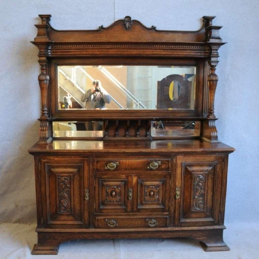 Sideboard An Oak Mirror Back Sideboard (View 17 of 20)