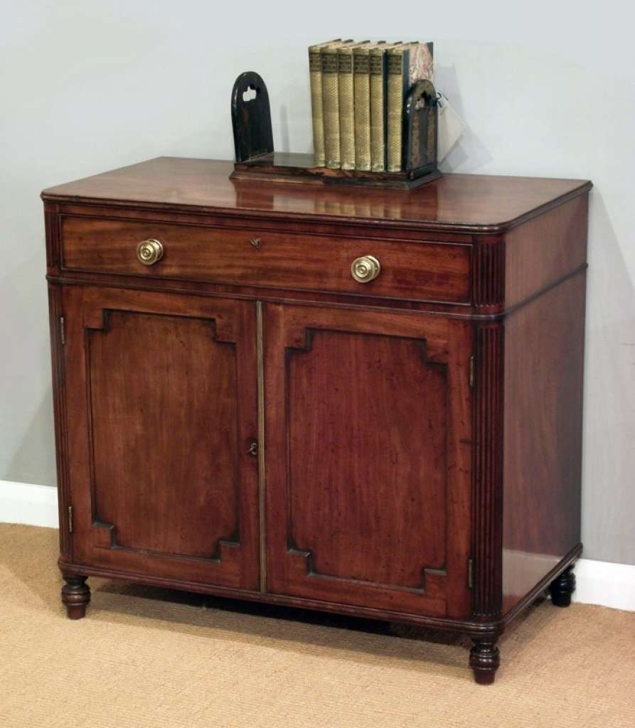 Sideboard Antique Side Cabinet, Small Sideboard, Regency Sideboard With Regard To Mahogany Sideboards (View 16 of 20)
