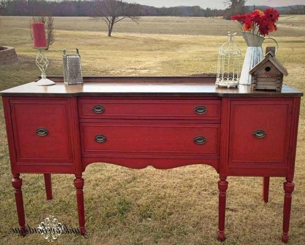 Sideboard Best 25 Red Buffet Ideas On Pinterest | Red Painted With Red Sideboards (View 14 of 20)